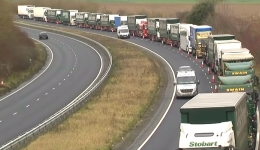 Governments fake traffic jam brings ridicule over a no deal BREXIT