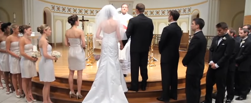 What's causing the decline in church weddings?
